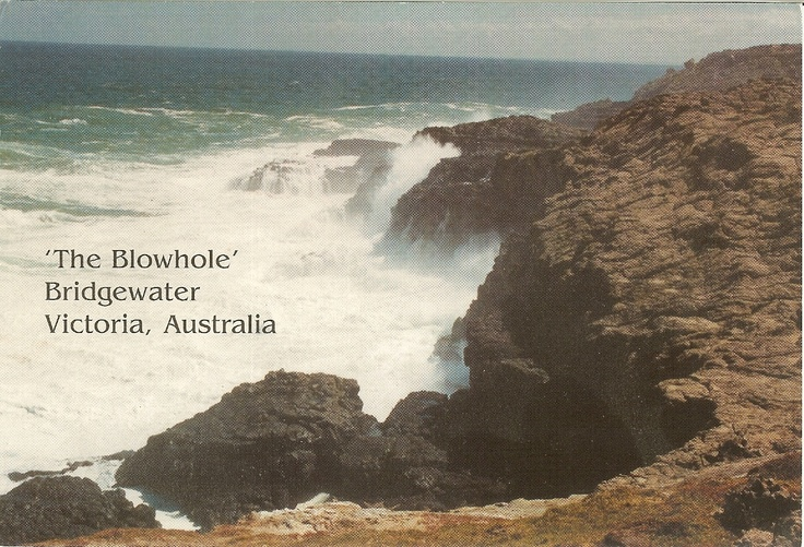 PK0047. 'The Blowhole' - A popular tourist attraction near Bridgewater Bay and Portland, Victoria, Australia.
