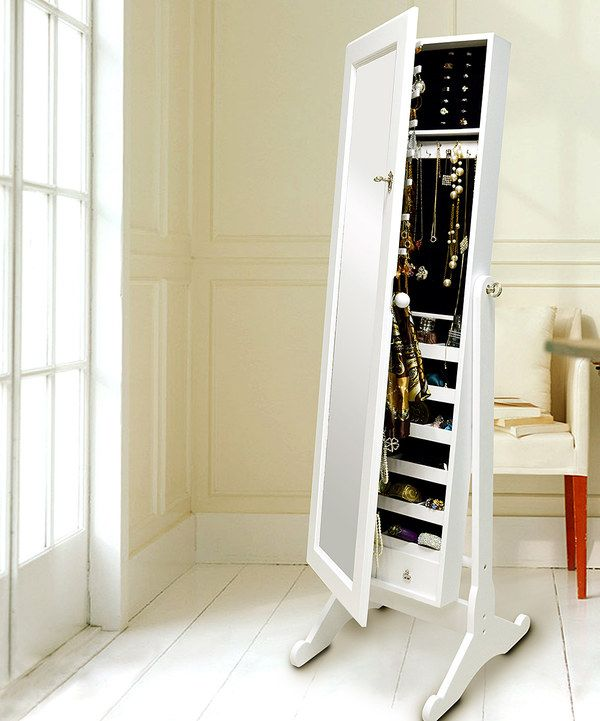 Look at this White Classic Floor Standing Jewelry Cabinet on #zulily today!