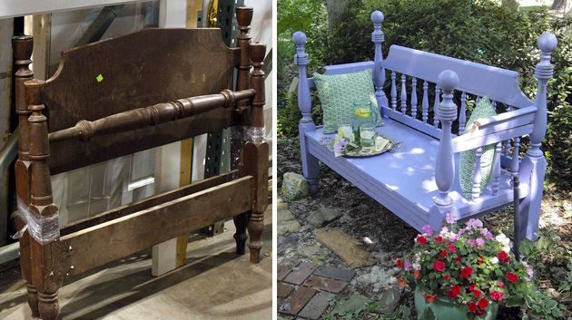 bed frame bench garden 3