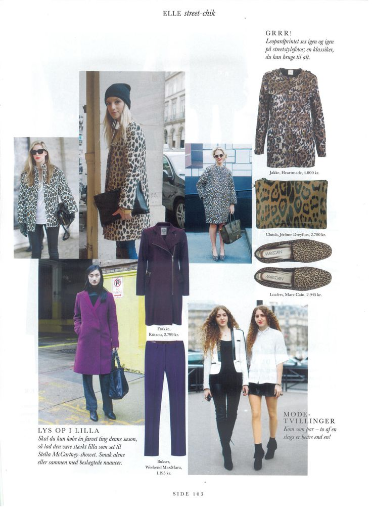 Julie Fagerholt / Heartmade Leo jacket in the danish magazine ELLE