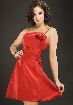Stunning Elastic Woven Satin A line Spring & Summer One Shoulder Evening Dress - Lunadress.co.uk