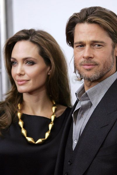 Brad Pitt Angelina Jolie Divorce | Brad Pitt et Angelina Jolie ensemble sur le tapis rouge de Mr et Mrs ...