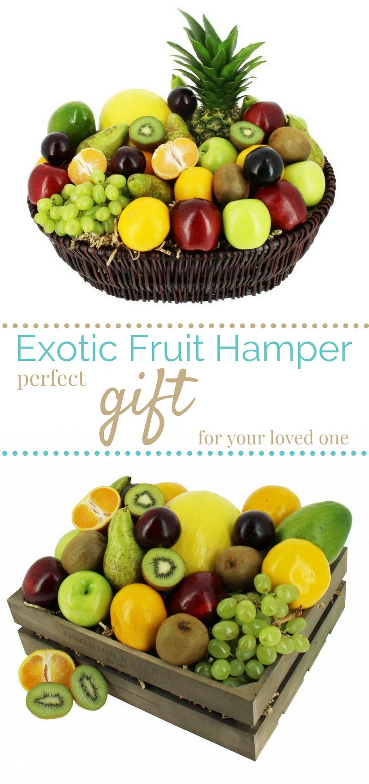Beautifully presented artisan fruit hamper gifts suitable for all occasions.