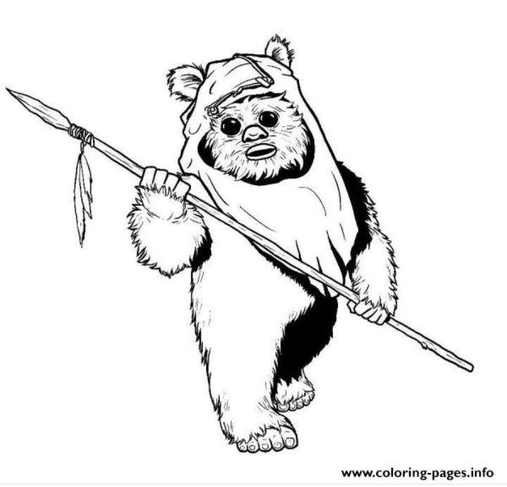 Ewok Sketch Star Wars Drawings Star Wars Art Ewoks