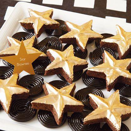 Oscar Party Food: Walk of Fame Star Brownies