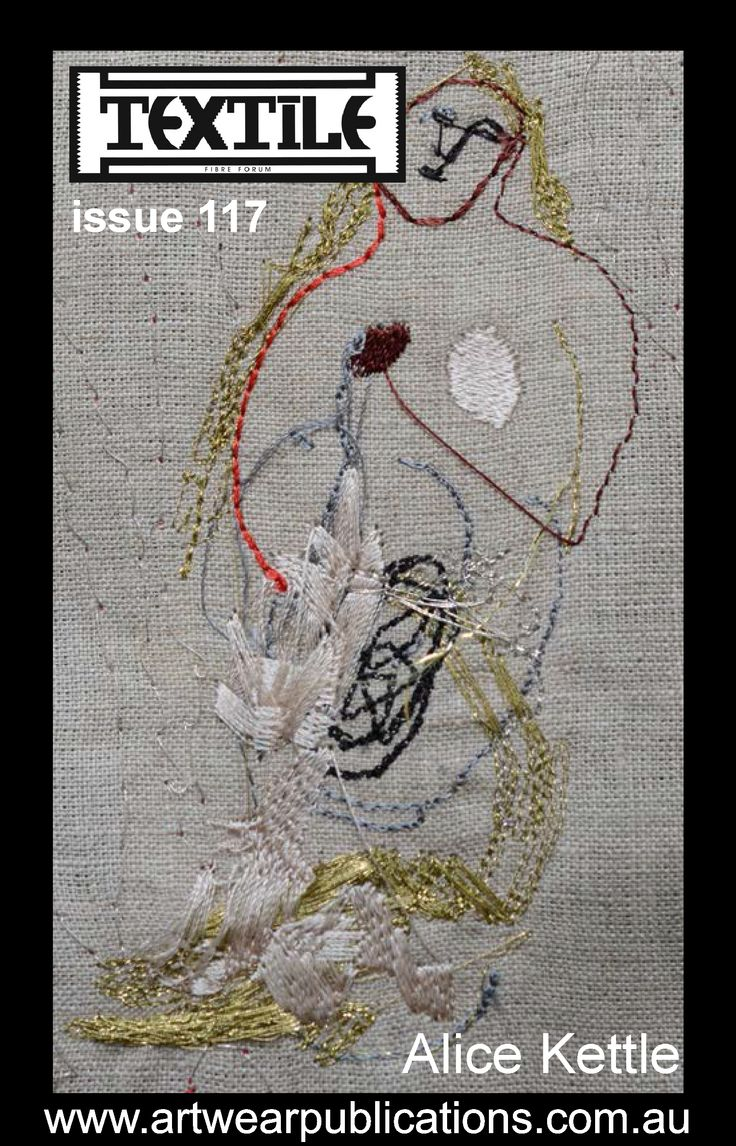 """""""The Story of Pot"""" by Alice Kettle - from the article """"SLIPSTITCH Contemporary Embroidery Now"""" in Textile Fibre Forum magazine issue 117   (issue 117 is available at:   http://artwearpublications.com.au/back-issues/back-issue-textile-fibre-forum-magazine-156.html )"""