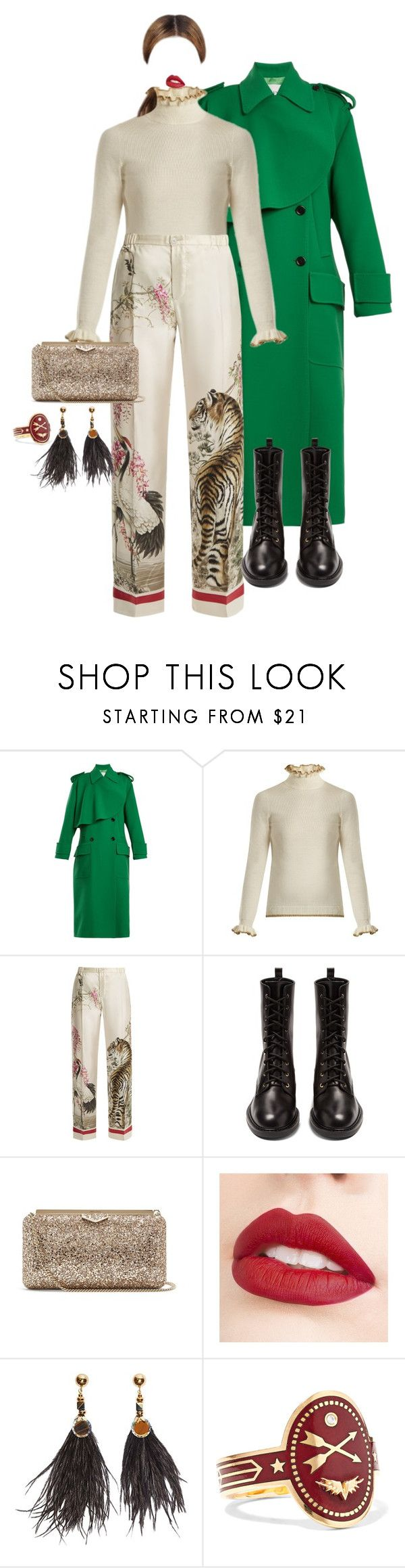"""""""Be together (Jungle)"""" by reesescup3000 ❤ liked on Polyvore featuring Valentino, Shrimps, F.R.S For Restless Sleepers, Nicholas Kirkwood, Jimmy Choo, Jouer, Nocturne and Foundrae"""