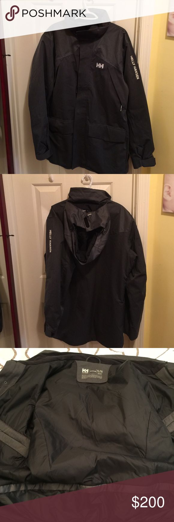 Helly Hansen Men's Helly Tech Performance Jacket Charcoal grey Helly Hansen jacket in great condition. Used for one winter with no wear and tear and no stains. Has fully taped seams for waterproof yet breathability ratings. Comes with hood and removable ski skirt. Helly Hansen Jackets & Coats Ski & Snowboard