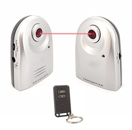 LingsFire Wireless Home Security Door Window Burglar Alarm with Chime, IR Doorbell Home Security Alarm System (1 Receiver, Transmitter and Remote) -- For more information, visit image link.-It is an affiliate link to Amazon.