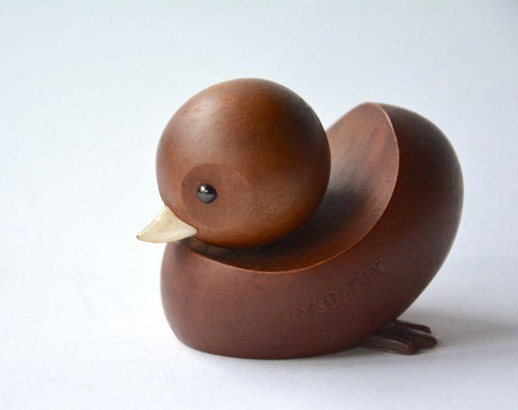 Vintage Royal Pet / MANDARIN / Japanese authentic modern wooden animal / Kay Bojesen style / Danish