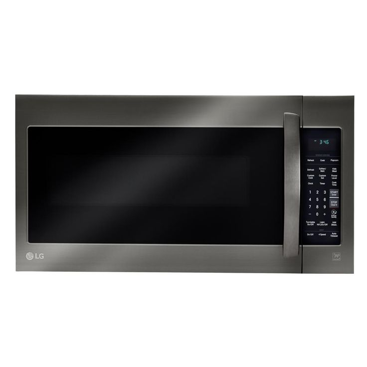 LG Electronics 2.0 cu. ft. Over the Range Microwave in Black Stainless Steel with Sensor Cook-LMV2031BD - The Home Depot