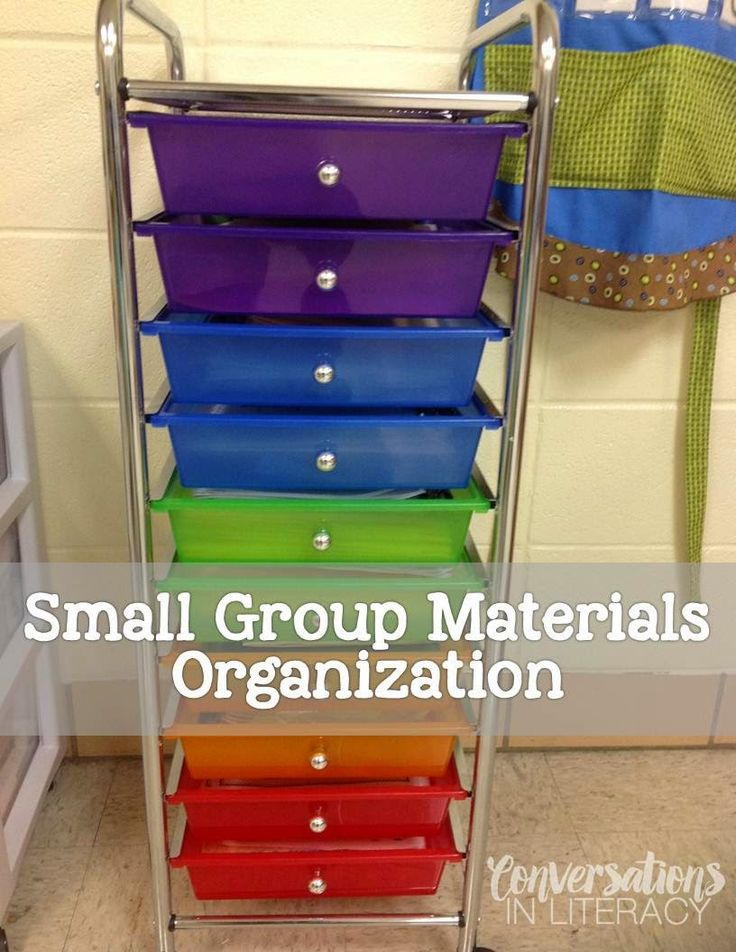 Small Group Materials Organization Made Easy- great ways to organize reading materials!!