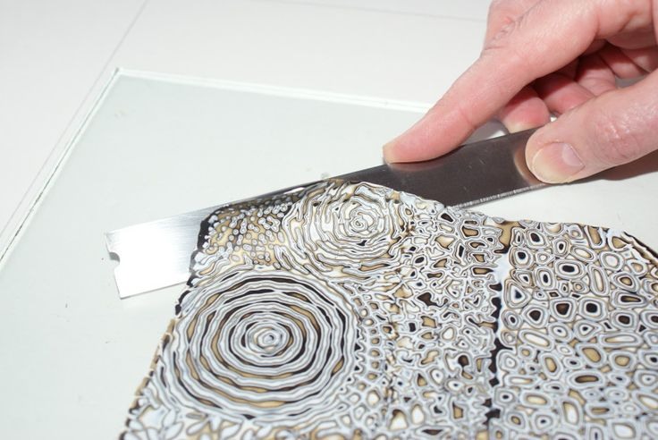 Free tutorial from Melanie Muir on Mokume Gane with texture sheets. #Polymer #Clay #Tutorials