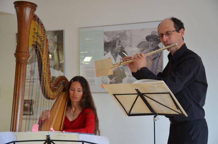 17.03.15 Michael Poppeller und Johanna Farbmacher spielen im Literaturhaus am Inn.