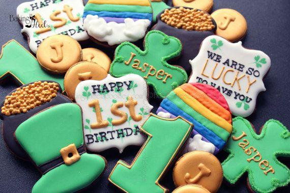 18 Saint Patrick's Day Birthday Sugar Cookies by Bakinginheels