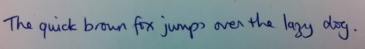 British hand writing style