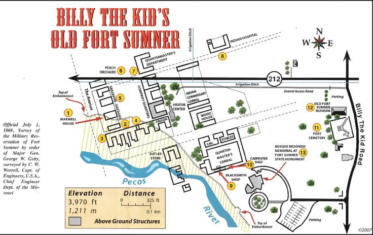 Billy the Kid Museum - Fort Sumner, NM - Old Fort