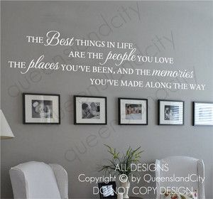THE Best Things IN Life Love Memories Wall Quote Home ART Decal Vinyl Sticker | eBay