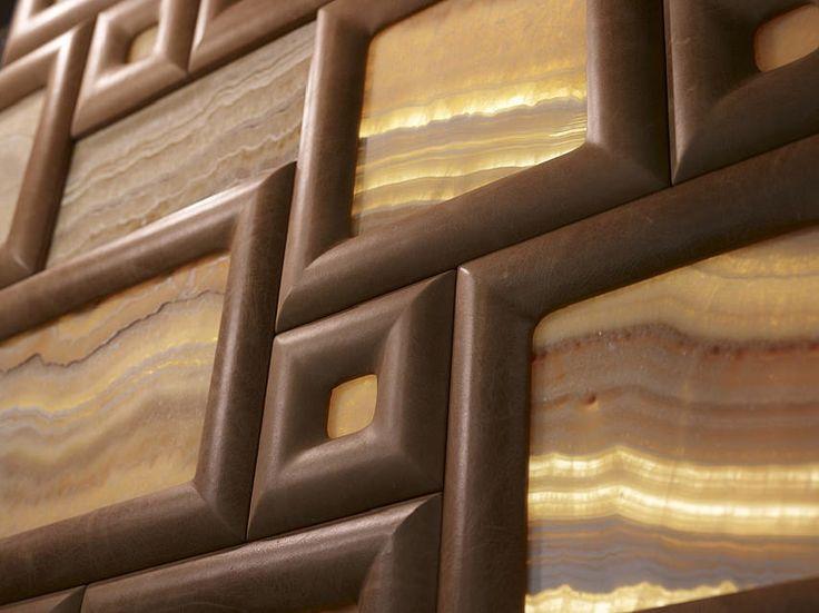 Design: Leather and stone wall decor - Stone-ideas.com