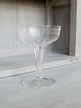 Antique Champagne Glass in cristal