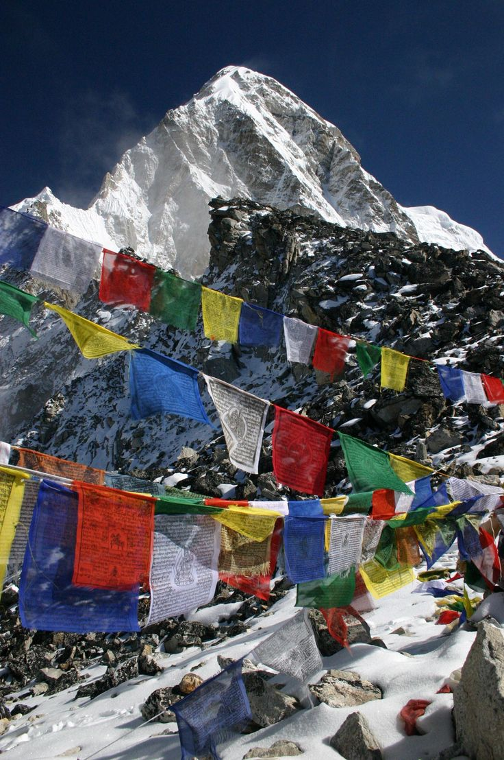 Prayer flags - View from Kala Patar, looking at Pumori, Nepal by Jelle Van de Veire on 500px