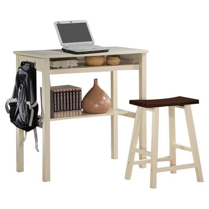2-Piece Rena Desk u0026 Stool Set - Sitting Pretty on Joss u0026 Main  sc 1 st  Pinterest & Best 25+ Desk stool ideas on Pinterest | Tall desk Tall bar ... islam-shia.org