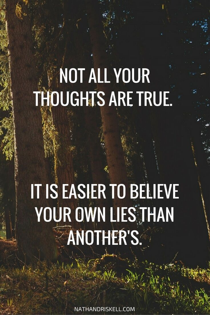 Not everything we think is true. Sometimes, our thoughts are lies based on feelings or distortions. Therapy can help you learn how to change thoughts, from negative, to positive. #thoughts #ants #therapy http://nathandriskell.com