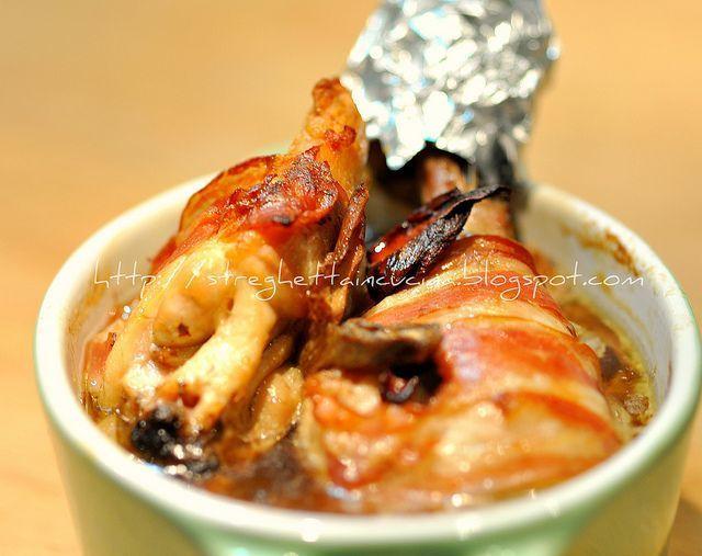 Pollo in cocotte con funghi e pancetta, Ricetta Petitchef