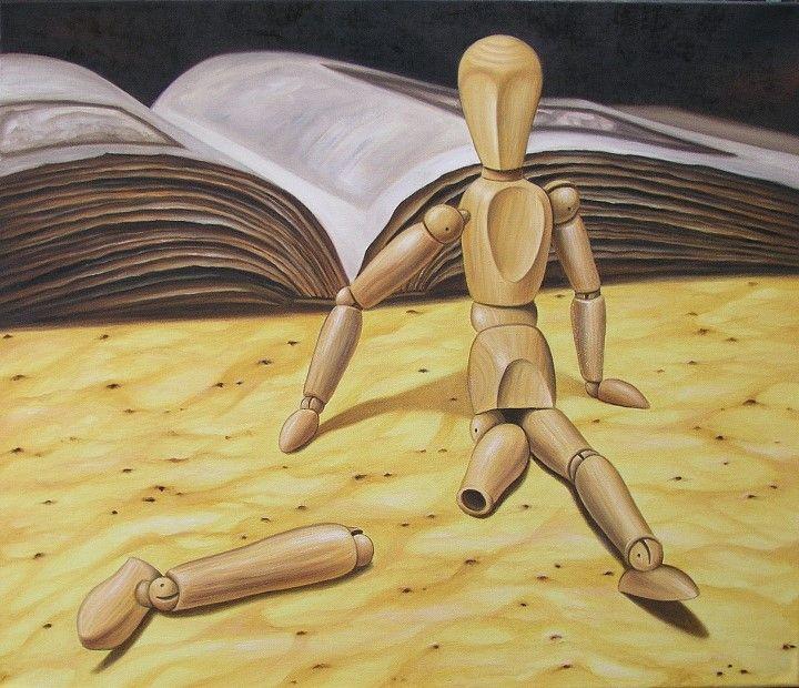 Armer kleiner Freund   #Ölgemälde auf Leinwand   70 x 60 cm von Janny Cierpka #painting #art #kunst #malerei