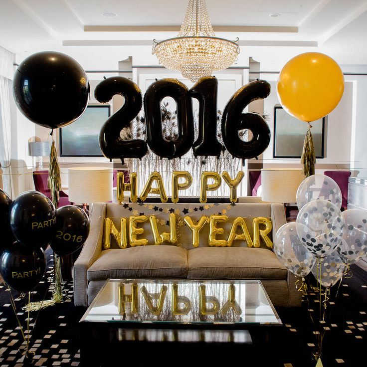 Jumbo Balloon '2016' Numbers New years eve party, New