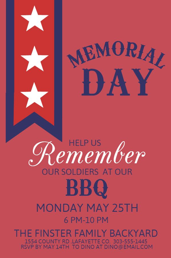 19 best Memorial Day Poster Designs images on Pinterest Online - missing poster generator