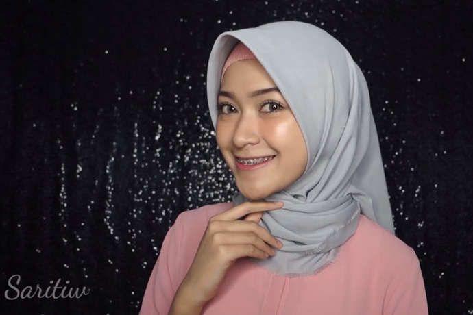 Tutorial Hijab Diamond Scarf