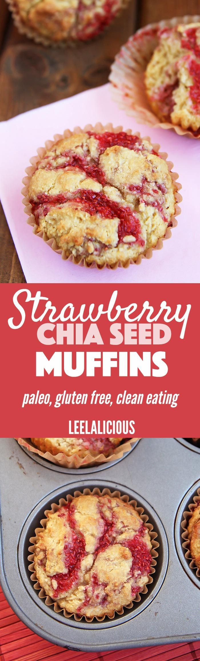 My Coconut Flour Muffin Recipe combined with Strawberry Chia Jam produces these wonderfully bright and flavorful Strawberry Chia Seed Muffins.