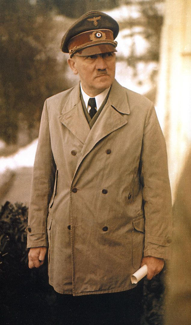 Nazi Third Reich Hitler Near The End Of World War 2 Looking Old And Ill