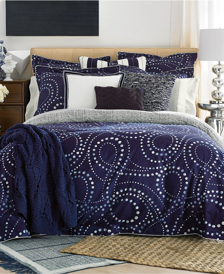 Tommy Hilfiger California Dot Full Queen Duvet Cover Set Bedding Collections Bed Bath