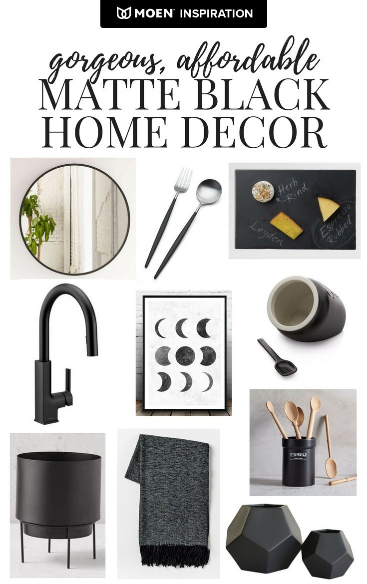 Amanda Hendrix shows us how black accents—like our STo faucet—can make a big impact in your home. Click to learn more about her mood board.
