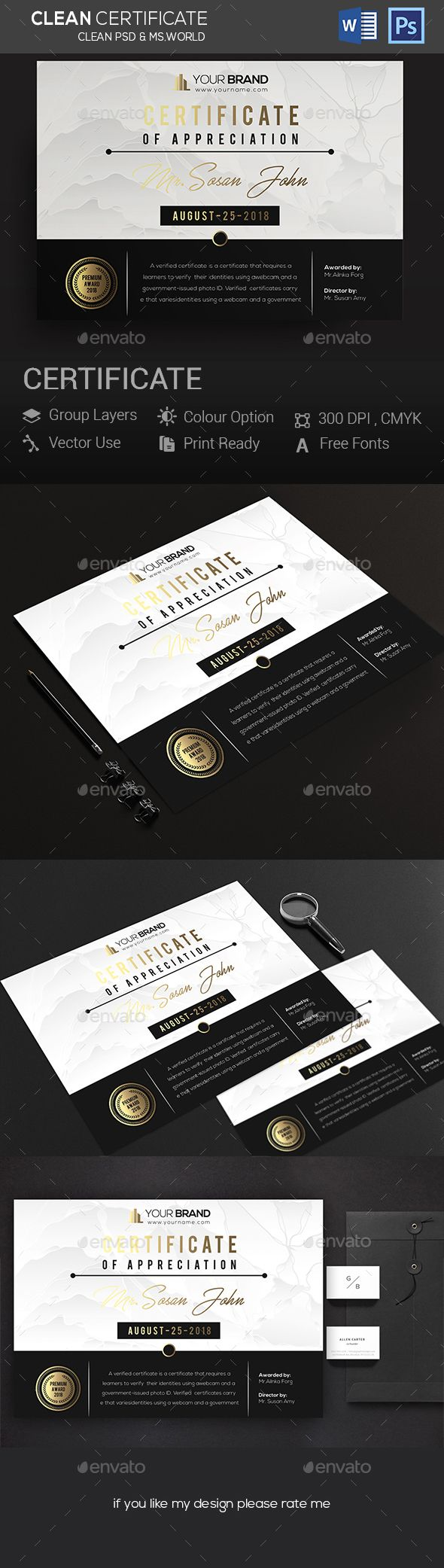 Certificates #certificate design #certificate  • Download here → https://graphicriver.net/item/certificates/20966718?ref=pxcr