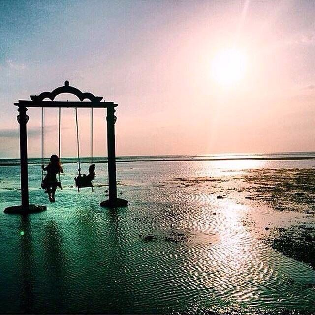 Best Swing Ever!! Beach of Gili Trawangan #Lombok #Gili Trawangan #Indonesia