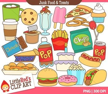 ... and Treats - food-themed clipart $ | Little Red's Clip Art | Pinterest