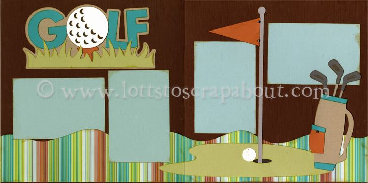 Golf Scrapbook Page Kit - Click Image to Close