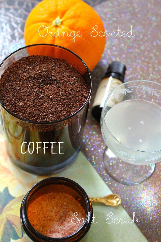 Orange Scented Coffee Salt Scrub