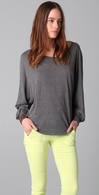 Chaser Raw Off Shoulder Dolman Top thestylecure.com