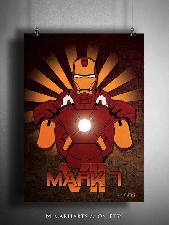 Iron Man Mark VII Tony Stark Kunstwerk handgemacht