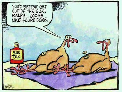 Funny TurkeyTanning Cartoon Picture | Funny Joke Pictures