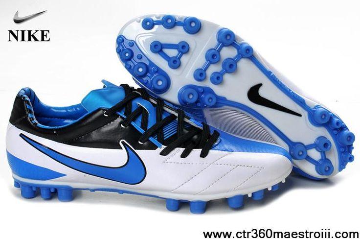 Discount Nike Total90 Laser IV AG White Blue Black Soccer Boots For Sale