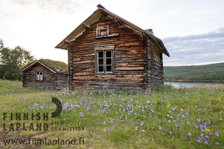 Utsjoki church cottages at summer in Utsjoki, Finnish Lapland. Photo by Terhi Tuovinen. #filmlapland #finlandlapland #arcticshooting