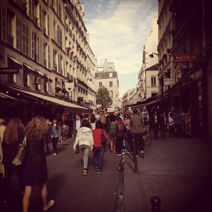 Summer rue de Buci, Paris.