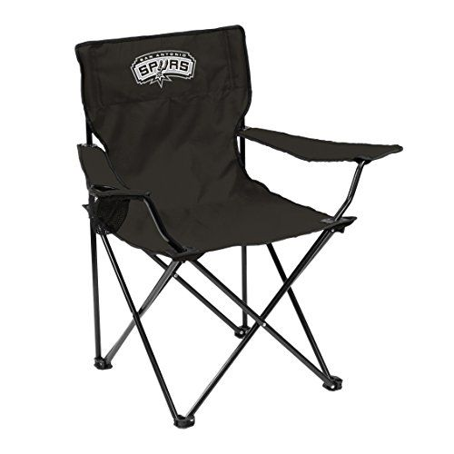 Logo Chair San Antonio Spurs Quad Chair  http://allstarsportsfan.com/product/logo-chair-san-antonio-spurs-quad-chair/  Dimensions: 32W x 32D x 20.5H in. Polyester cover over a powder-coated steel frame Spurs colors with matching logo
