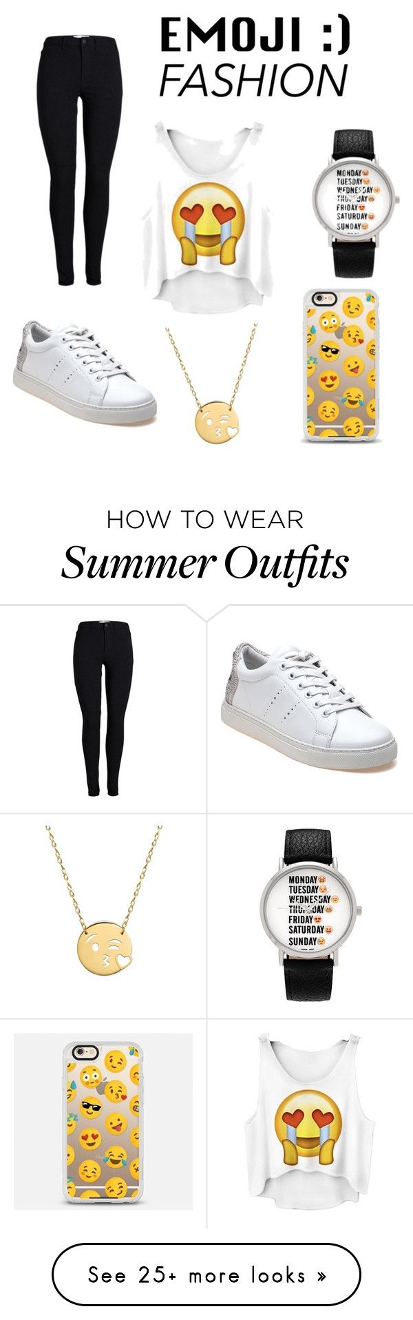 """Emoji outfit"" by cline0426 on Polyvore featuring Geneva, Casetify, Lola Cruz and Jane Basch"
