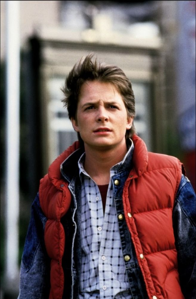 THAT body warmer worn by Marty Mcfly in Back to the Future. One of the defining film related images I had growing up. For me, Marty's getup in the films encapsulates everything cool about 80's fashion. Awesome trilogy! Now where's my hoverboard...